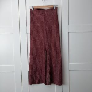 Unlisted Skirts - 3/$25 Knit Ribbed Maxi Skirt